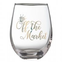 Stemless Wine Glass 'Off The Market'